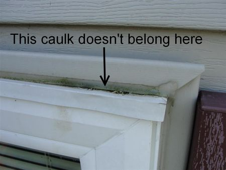 caulking errors done by unproffessional caulkers