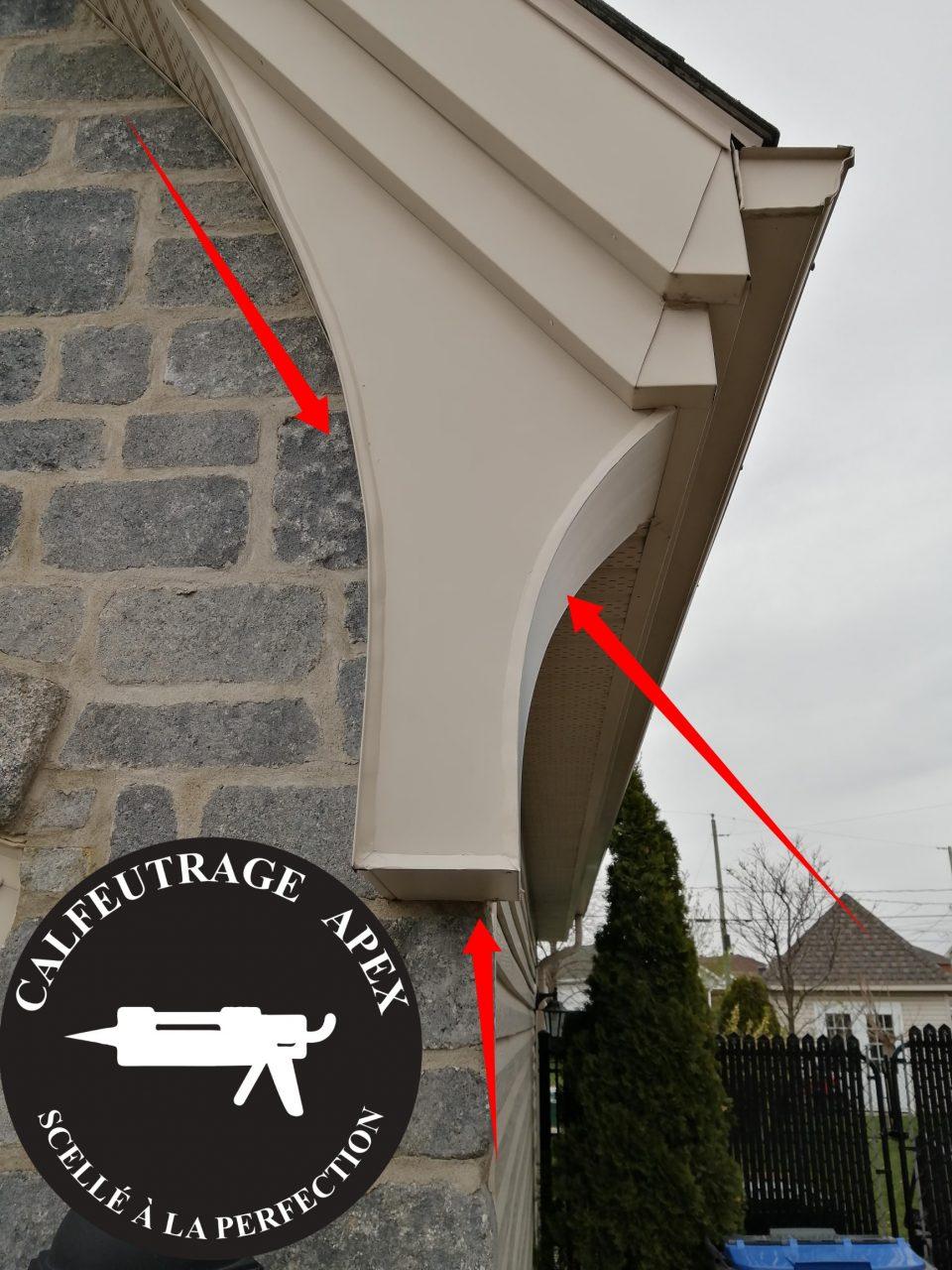 le calfeutrage des joints architecturaux.
