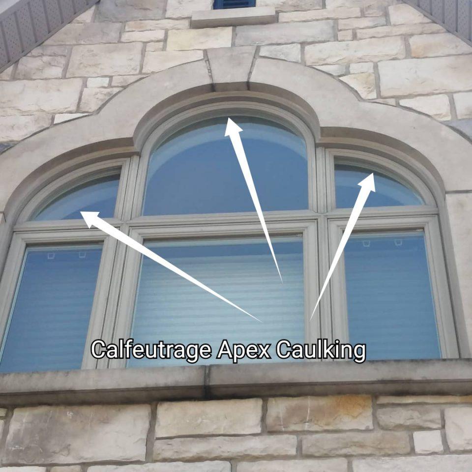 Calfeutrage joints de fenêtres. Calfeutrage Apex