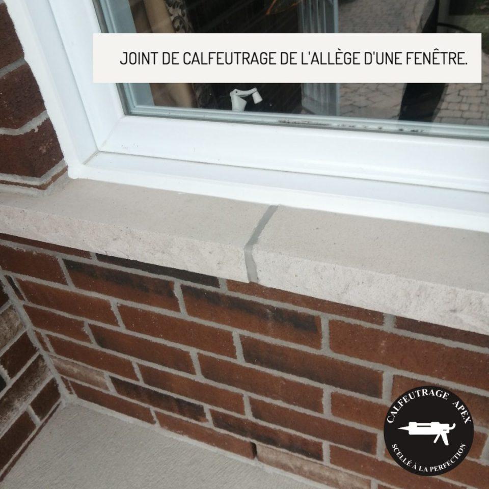 Allège de fenêtre calfeutrage Apex