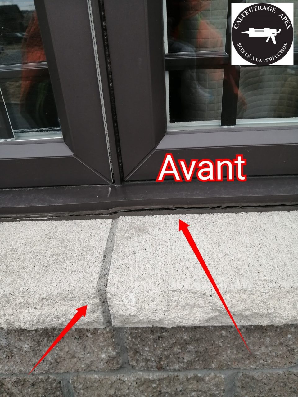 Apex caulking, window caulking south shore of Montreal