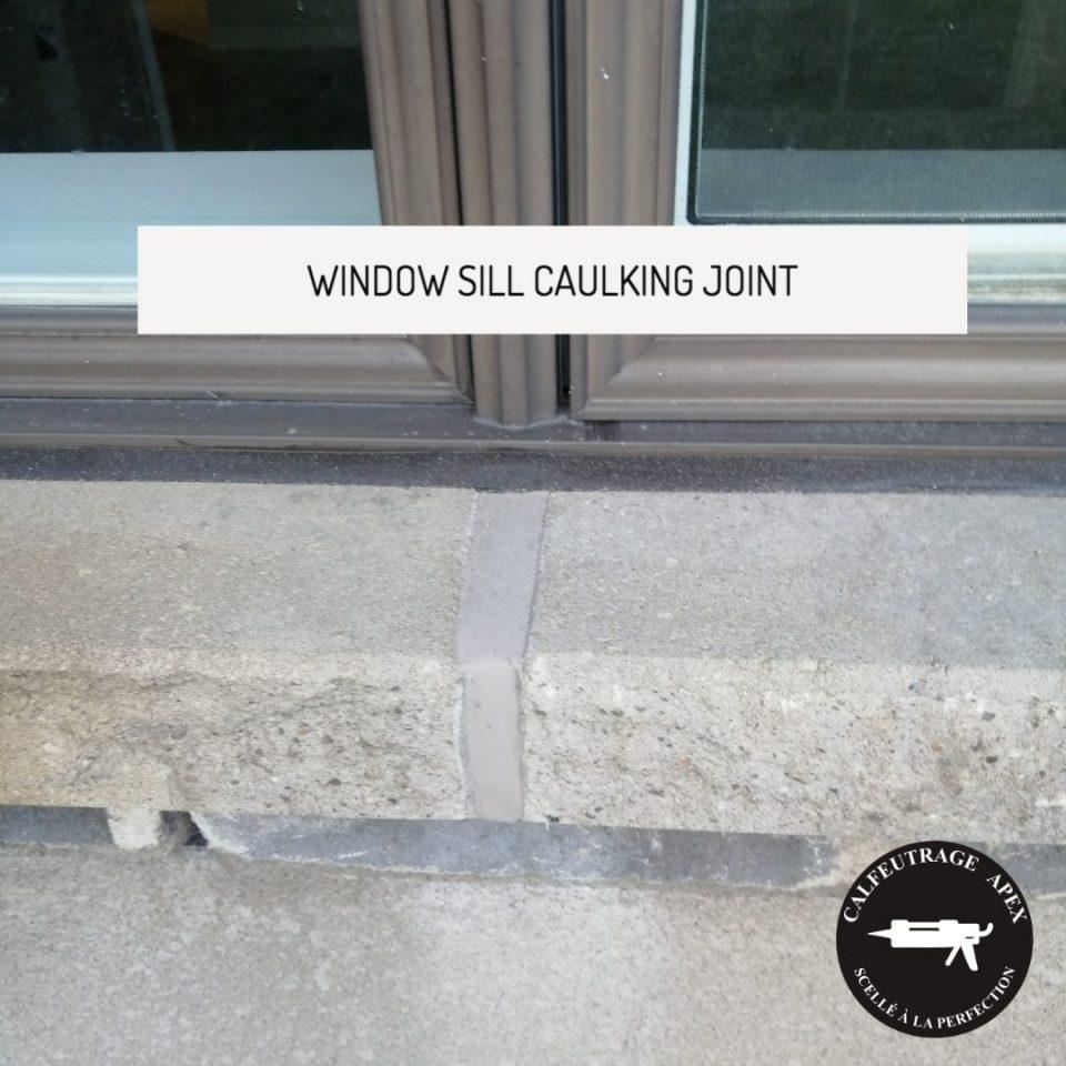 Apex caulking Window sill