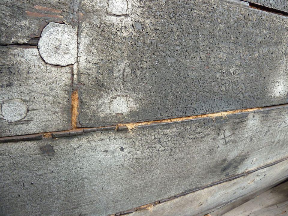 Un ancien calfeutrage / Calfeutrage Apex